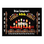 40th SURPRISE Birthday Party Candles Invitation