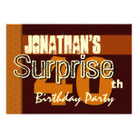40th Surprise Birthday Save the Date Gold Invitations