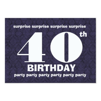40th SURPRISE Midnight Birthday Party Template V21 Announcements