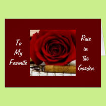 40th-TO MY FAVORITE ROSE IN THE GARDEN Card