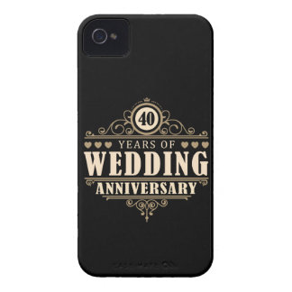 40th Wedding Anniversary Case-Mate iPhone 4 Cases