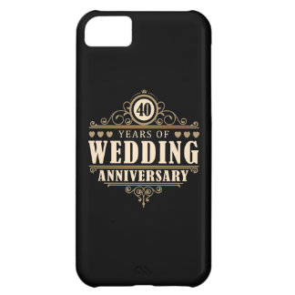 40th Wedding Anniversary Cover For iPhone 5C