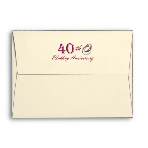 40th Wedding Anniversary Customizable Envelopes Envelopes