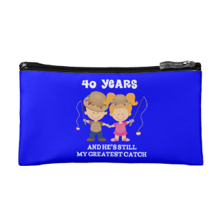 40th Wedding Anniversary Funny Gift For Her Makeup Bag