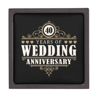 Wedding Anniversary Gift 57 Years : 40th Gift Boxes & Keepsake Boxes Zazzle