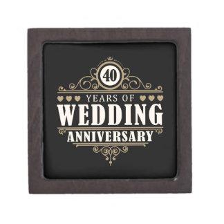 40th Wedding Anniversary Gift Jewelry : 40th Anniversary Gift Boxes & Keepsake Boxes Zazzle