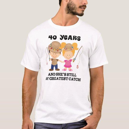 40th Wedding Anniversary Gift For Him T Shirt