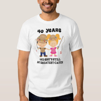40th Wedding Anniversary Gift For Him Tees