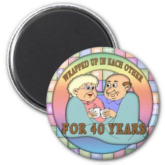 40th Wedding Anniversary Gifts 2 Inch Round Magnet