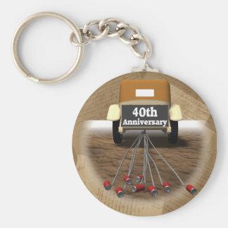 40th Wedding Anniversary Gifts Basic Round Button Keychain