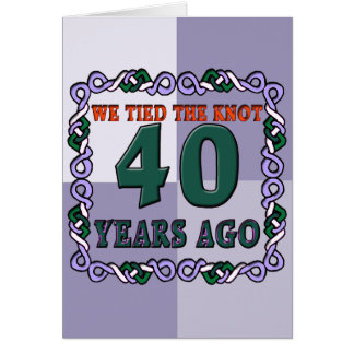 40th Wedding Anniversary Gifts Card