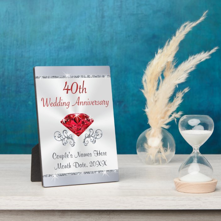 40th Wedding Anniversary Gifts for