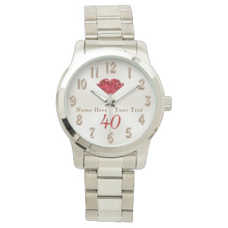 40th Wedding Anniversary Gifts for Wife or Husband Wrist Watch