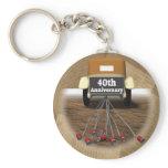 40th Wedding Anniversary Gifts Keychain