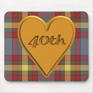 40th Wedding Anniversary Gifts Mouse Pad