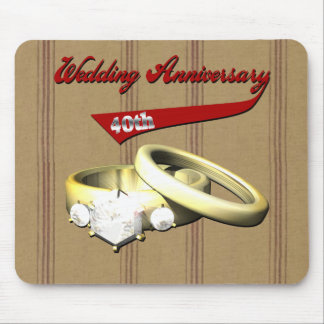 40th Wedding Anniversary Gifts Mousepads