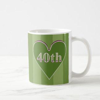 40th Wedding Anniversary Gifts Classic White Coffee Mug