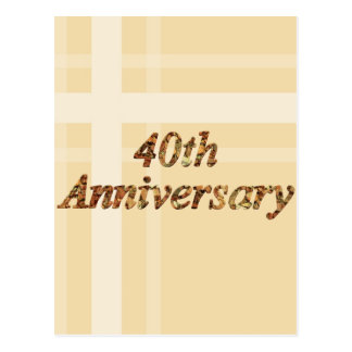 40th Wedding Anniversary Gifts Postcard