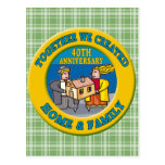 40th Wedding Anniversary Gifts Postcards