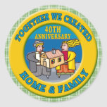 40th Wedding Anniversary Gifts Stickers