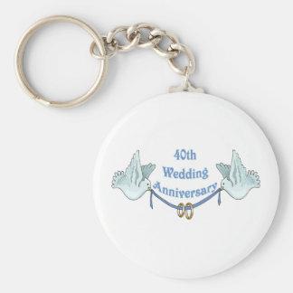 40th wedding anniversary gifts t basic round button keychain