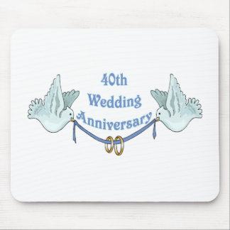 40th wedding anniversary gifts t mouse pad