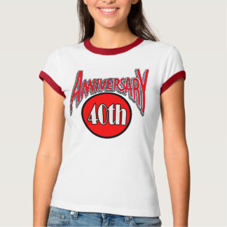 40th Wedding Anniversary Gifts Tee Shirt