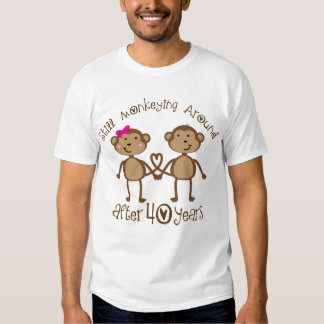 40th Wedding Anniversary Gifts Tee Shirts