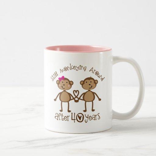 40th Wedding Anniversary Gifts Two-Tone Coffee Mug