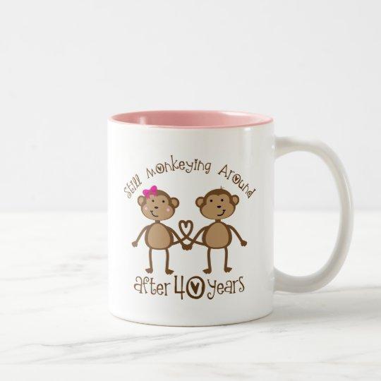 Gift Ideas 40th Wedding Anniversary: 40th Wedding Anniversary Gifts Two-Tone Coffee Mug