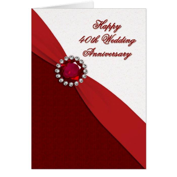 Th wedding anniversary greeting card zazzle