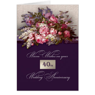 40th Wedding Anniversary Greeting Cards