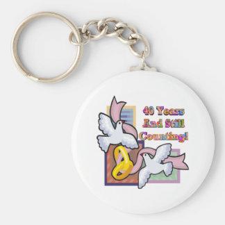 40th wedding anniversary gt basic round button keychain