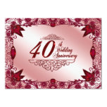 40th Wedding Anniversary Invitation
