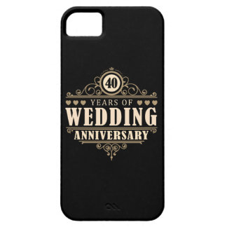 40th Wedding Anniversary iPhone SE/5/5s Case