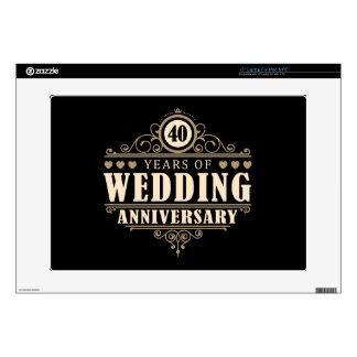 40th Wedding Anniversary Laptop Skin