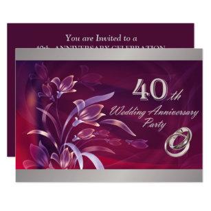 40th Anniversary Invitations Zazzle