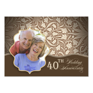 40th wedding anniversary photo invitation