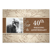 40th wedding anniversary photo invitations