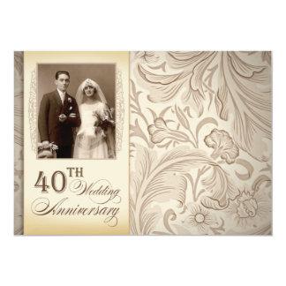 40th wedding anniversary photo invitations