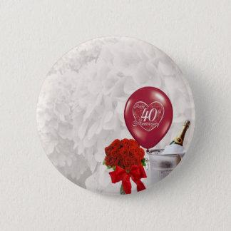 40th Wedding Anniversary Pinback Button