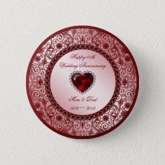 40th Wedding Anniversary Round Button