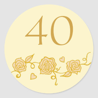 40th Wedding Anniversary Stickers