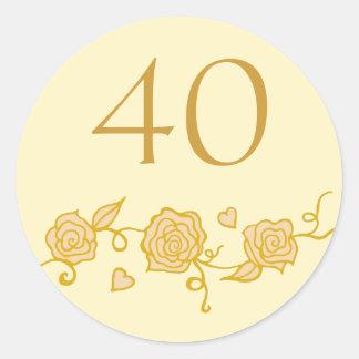 40th Wedding Anniversary Stickers