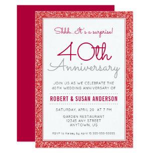 40th Anniversary Wedding Invitations Zazzle