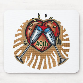 40th wedding anniversary t mouse pad