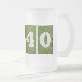 40th Yard Football Birthday Glass Mug