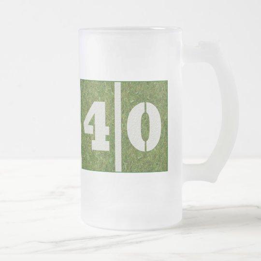 40th Yard Football Birthday Glass Mug