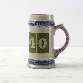 40th Yard Football Birthday Stein