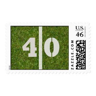 40th Yard Football Postage